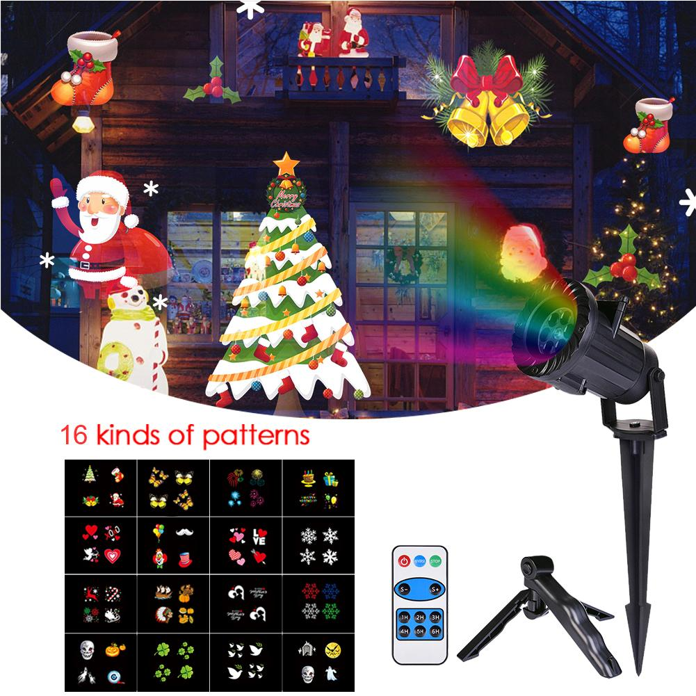 Chrismas Lights Waterproof LED Projector Remote Control Laser Fairy Light Projection Family Holidays Party Wedding Decoration