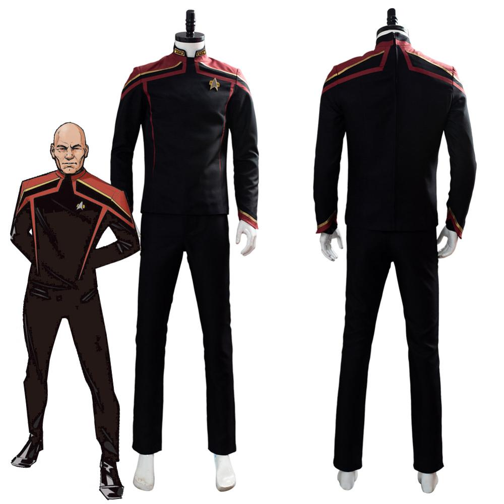 Star Cosplay Trek Jean-Luc Picard Cosplay Costume Unfirt Outfit Halloween Carnival Costumes