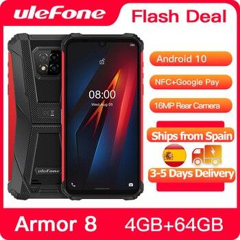 Купить Ulefone Armor 8 смартфон с 5,5-дюймовым дисплеем, восьмиядерным процессором Helio P60, ОЗУ 4 Гб, ПЗУ 64 ГБ