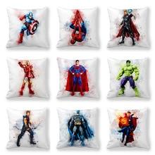 Disney Cartoon Marvel Heroes boiys Cushion Cover Home Decoration Fairy Tale Princess Hero Heroine Cushion Cover