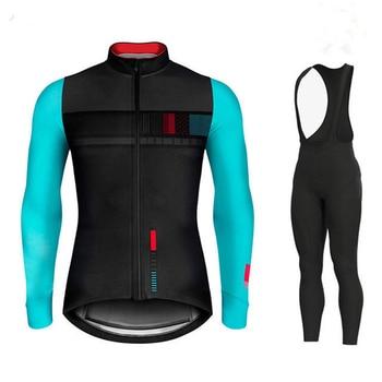 Gobikeful outono manga longa camisa de ciclismo conjunto bib calças roupas ciclismo mtb bicicleta roupas camisa uniforme dos homens 1