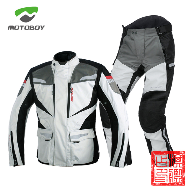 $ US $266.00 New Motoboy Motorcycle Bike Polyester 600D Oxford Riding Touring 3 Layer Waterproof Warm Jacket&Pant 4 Season Wear CE Protectors