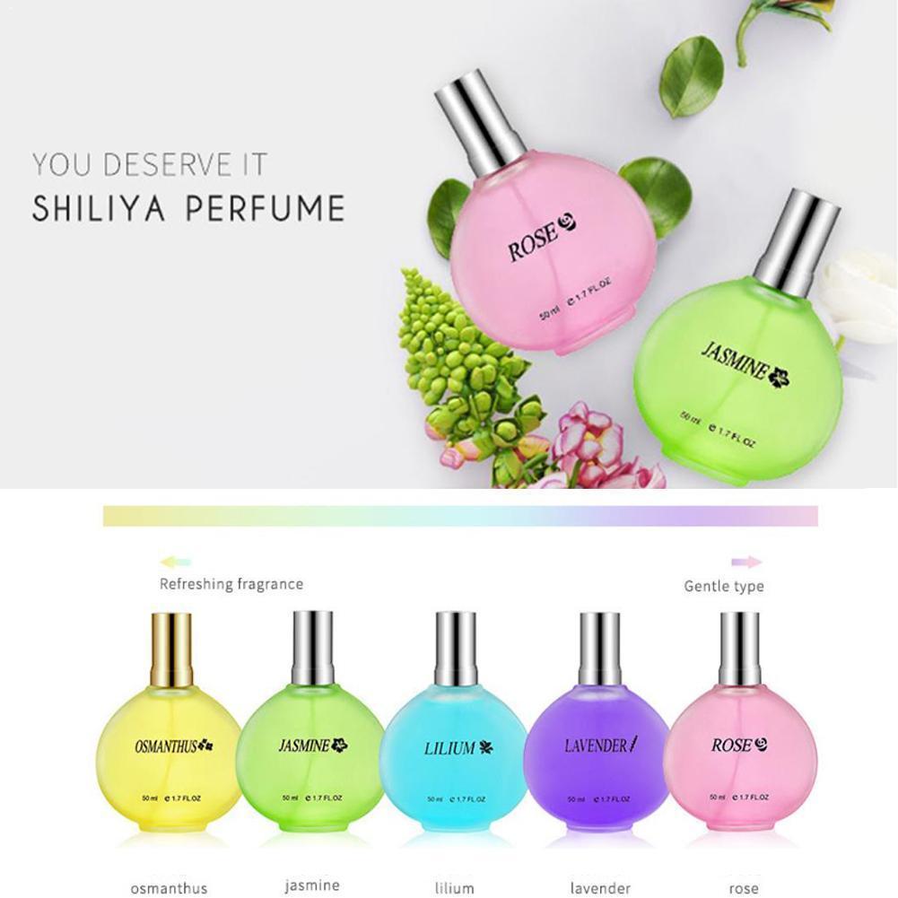 50ml Unisex Long Lasting Light Fragrance Osmanthus Lily Deodorant Lavender Jasmine Perfume Rose E9L8