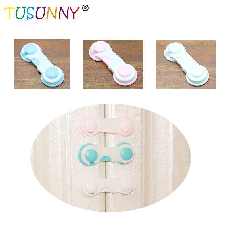 TUSUNNY 5 Pcs/lot Child Safety Locks Infant Baby Anti-pinch Drawer Refrigerator Lock