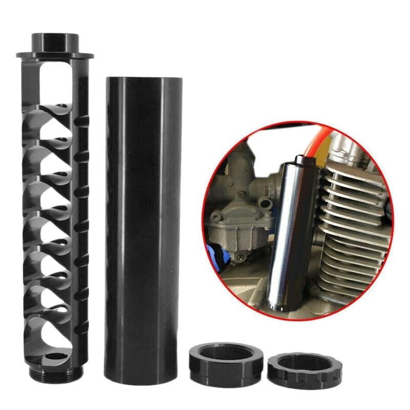 Spiral 5/8-24 Fuel Filter Aluminum For NaPa 4003 WIX 24003 Car Slovent Black 6 Inch