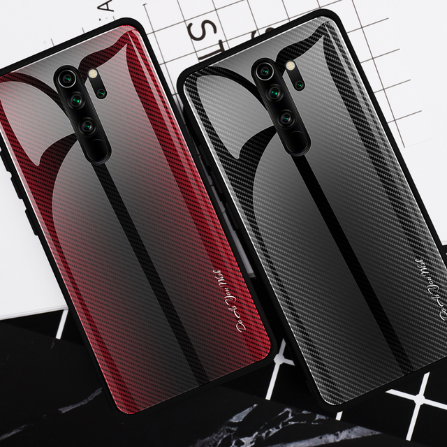 25pcs Stripe Gradient Glass Phone Case for Xiaomi 10 Pro/CC9/Redmi 8A/K20 Pro/Redmi Note 9s/Note 8T/Note 9 Pro/Note 8 Pro/Note 7