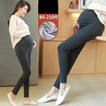 Plus rozmiar 4XL kobiety w ciąży spodnie elastyczne jeansy ciążowe spodnie dla kobiet w ciąży w ciąży legginsy odzież spodnie bawełniane spodnie tanie i dobre opinie Uovo Poliester Czesankowej Natural color Luźne NONE Black Dark Grey Light Grey L XL XXL XXXL 4XL spring and autumn clothes for pregnant women