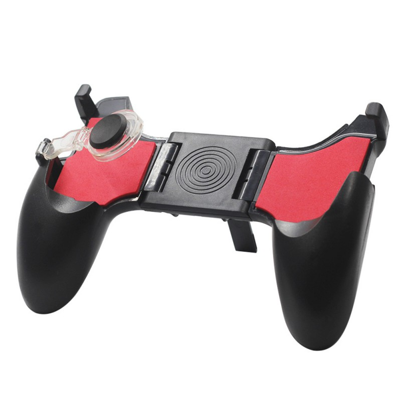 5 in 1 PUBG Moible Gamepad Free Fire L1 R1 Triggers Moving Button Game Pad Grip Joystick for iPhone Android Phone image
