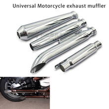 Universal Motorcycle Cafe Racer Exhaust Pipe Muffler Tail Tube Silencer For Harley Bobbers Honda CRF230F CRF150F universal 61mm 51mm motorcycle modified exhaust muffler pipe adapter reducer connector pipe tube for honda nc750x hornet 600 900