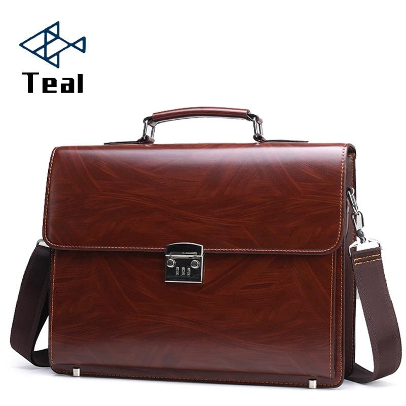 2020 New Men's Briefcase Password Lock Business Briefcase Large Capacity Shoulder Messenger Bag Computer Bag