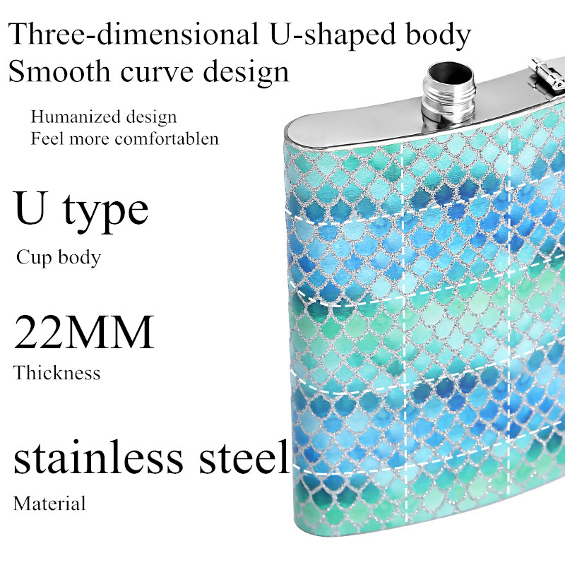8oz Creative Whiskey Hip Flasks Portable Stainless Steel Hip Flask Russian Wine Mug Vodka Alcohol Drinkware Flask Flagon Outdoor