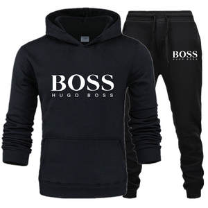 Sweater Hooded Letter Aliexpress Boss-Printed Winter Women Fashion-Set MEN'S And Autumn