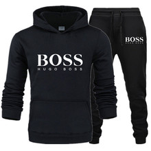 AliExpress Hot Selling Autumn And Winter MEN'S Hooded Sweater Boss Printed Lette