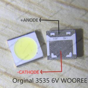 Image 2 - 1000PcsสำหรับWOOREE LED LED 2W 6V 3535 150LM CoolสีขาวLCD BacklightสำหรับทีวีWM35E2F YR09B eAแอ็พพลิเคชันทีวี
