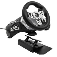 Computer game steering wheel vibration 270 degrees ps 3 4 usb host multi interface selection PC racing games driving simulator
