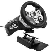 Komputer kierownica do gier wibracji 270 stopni ps 3 4 usb host wielu interfejs wybór PC gry wyścigowe symulator jazdy