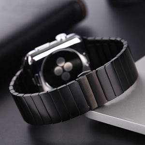 Image 3 - Stainless Steel strap for Apple Watch band 44/40mm iWatch band 42mm/38mm Butterfly buckle Metal Bracelet Apple watch 6 SE 5 4 3