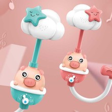 Children's Bathing Toy 3 Bathroom Playing with Water Piggy Sprinkler Electric Shower Baby Bathtub Boys and Girls