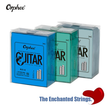 Orphee Professional 5 10 Set elektryczna struna gitarowa stal niklowana struny do gitary elektrycznej struna gitarowa s z oryginalnym pakietem detalicznym tanie i dobre opinie CN (pochodzenie) Electric Guitar String NONE