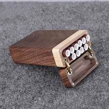 The Latest Portable Solid Wood Cigarette Box for Men and Women Creative Flip Sliding Lid Wooden Cigarette Box Boyfriend Gift