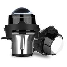 אוניברסלי 2.5 אינץ HID bi קסנון ערפל אורות מתכת מקרן עדשת ערפל מנורת הרכבה עמיד למים גבוהה נמוך beam רכב סטיילינג