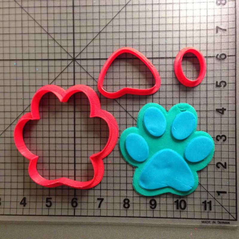 Cute Cartoon Bear Paw Cookie Cutter Kitchen Baking Supplies Cake Icing Decoration Tools Set 3D Printing Custom