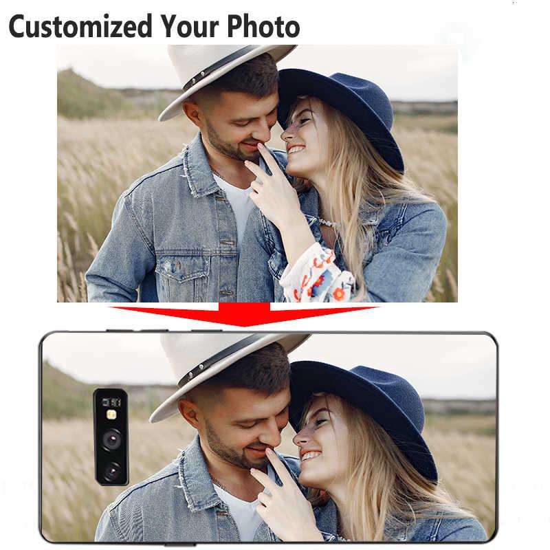 Custom Case Disesuaikan Foto untuk Huawei P Smart Y9 Y7 Y6 Y5 G9 Prime 2019 2018 2017 Tpu Hitam penutup Nama Berkat Logo