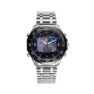 Image 3 - 6.11 New Solar Watch Men Alloy Quartz Dual Time Mens Watches Waterproof Wristwatch Led Digital Relogio Masculino