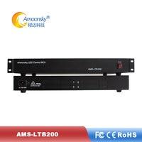 AMS LTB200 Led Envio De Caixa Externa Pode Inserir 4 pcs normal enviando msd300 cartão como novastar Ts 802d para tela de led|Tela de exibição|Eletrônicos -