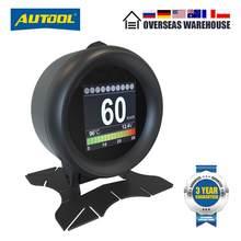 Autool x60 obd2 hud obd carro digital medidores obdii cabeça up display com óleo termômetro consumo de combustível velocidades de tensão para o automóvel