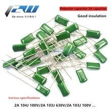 Capacitor 100V 100nf 50pcs 2A471J 2A102J 2A222J 2A392J Polyester-Film 1nf