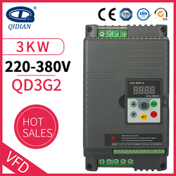 QD350 Spindle inverter ac drive 3kw 220v frequency converter 3 phase 380v frequency inverter for motor speed controller VFD
