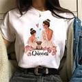 Beauty Printed T Shirt Women Short Sleeve T-shirt Femme Ulzzang Vintage Top Tees