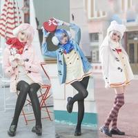 Anime Re ZERO Starting Life in Another World Cosplay Costumes Emilia Ram Rem Cosplay Costume Halloween Party kara Hajimeru Iseka