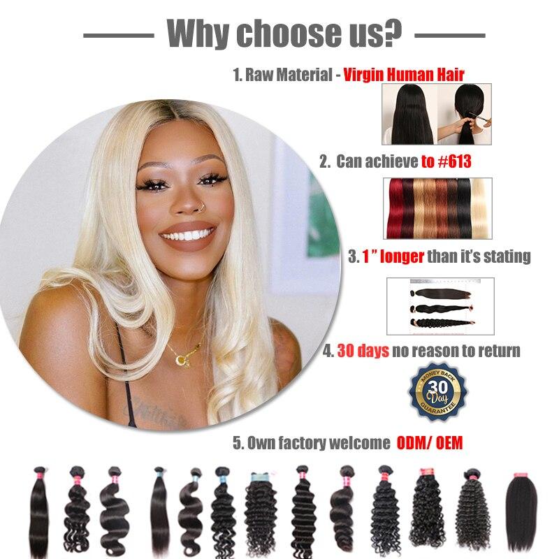 Ali Reine Cheveux Brésiliens Vierge Cheveux Crépus Droite Armure De Cheveux Humains En Gros 10 pièces Lot Naturel Couleur Livraison Gratuite - 2