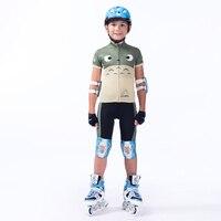 2020 Cartoon dzieci roller skating garnitur niestandardowe dzieci jazda na rowerze komplet jersey w Zestawy rowerowe od Sport i rozrywka na