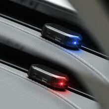 Solar USB Power Car Alarm Light Anti Theft Warning for mazda honda crv subaru impreza a4 b7 hyundai ix35 skoda superb bmw e65