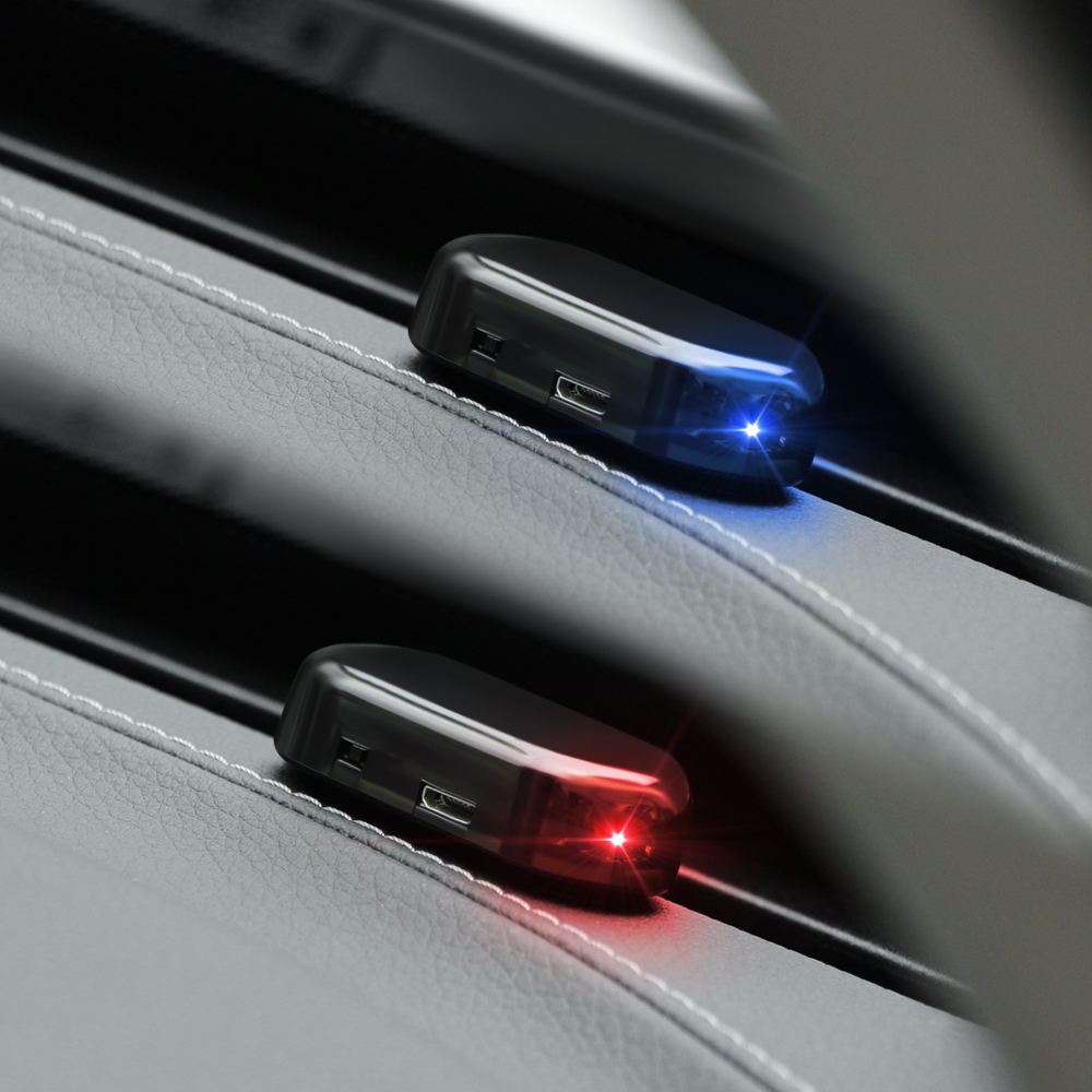 Солнечная USB мощность автомобильная сигнализация свет Противоугонная Предупреждение для Mazda Honda crv subaru impreza a4 b7 hyundai ix35 skoda superb bmw e65-in Держатели налоговых уведомлений для авто from Автомобили и мотоциклы