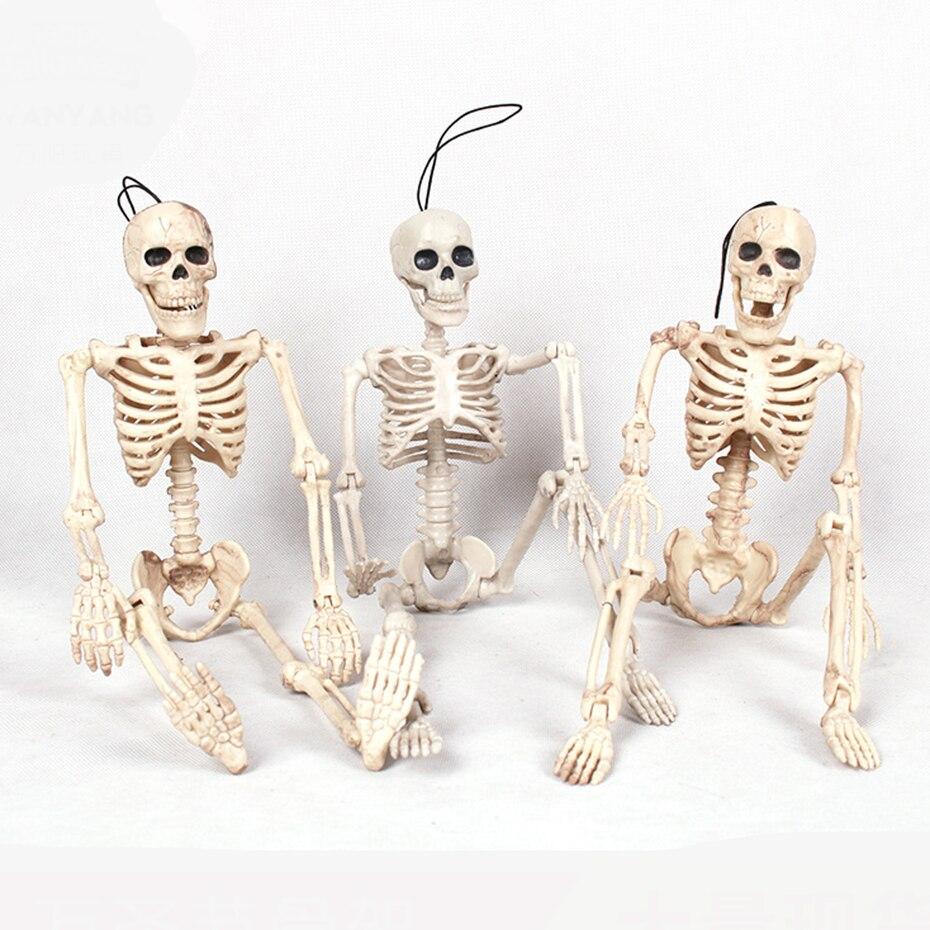 Halloween Prop Fexible tamanho completo Esqueleto Anatômico Anatomia humana Modelo de Plástico Realista de Terror do Dia Das Bruxas Decoração de Natal