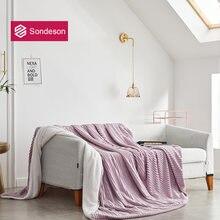 Женское Флисовое одеяло sondeson мягкое Фланелевое покрывало