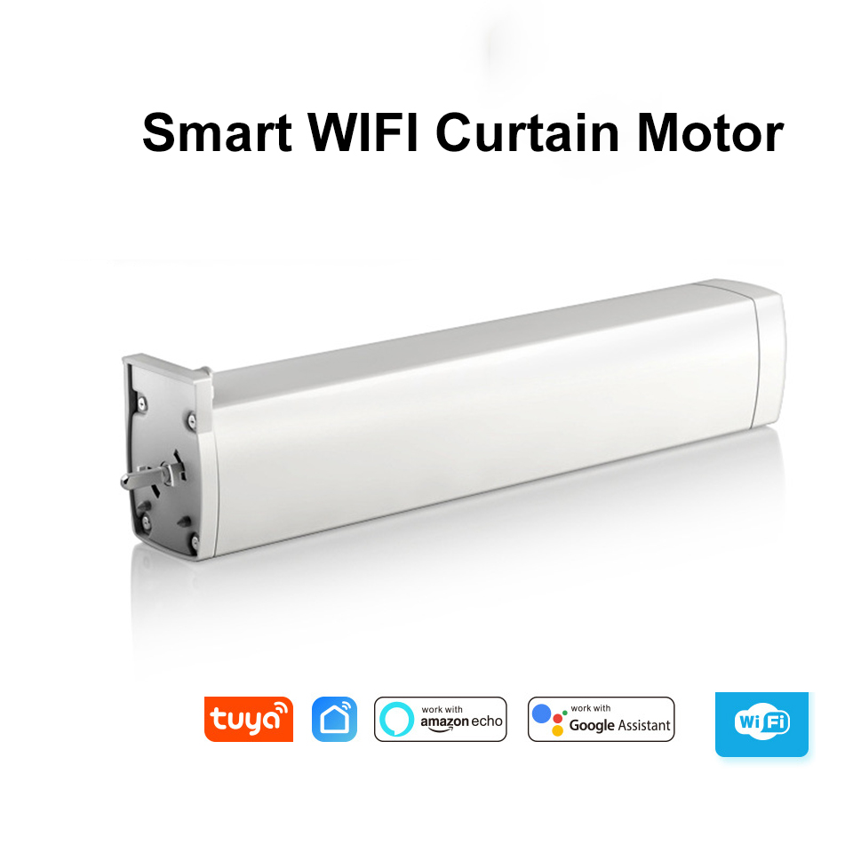 WIFI Electric Curtain Motor,Tuya Smart Life App Ewelink APP /xiaomi APP/Remote Control Vioce Control By Alexa Echo/Google Home