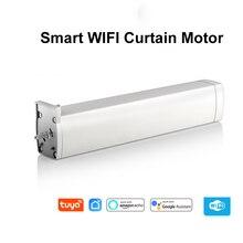 WIFI Electric Curtain Motor,Tuya smart life app Ewelink APP /xiaomi APP/Remote Control vioce control by alexa echo/Google home