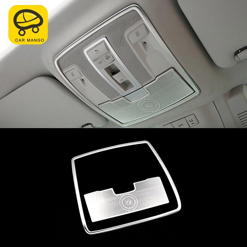 Otomobiller ve Motosikletler'ten Otomotiv İçi Çıkartmaları'de CarManGo Mercedes Benz GLE ML GL GLS oto araba ön arka okuma lambası arka bardak tutucu krom çerçeve Trim Sticker aksesuarları