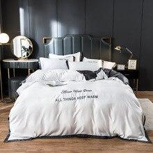 Evich Luxury Pure Satin Silk Bedding Summer Bed Sheet Quilt Duvet Cover Four-piece Set Ice Silk European Silky Tencel Cool