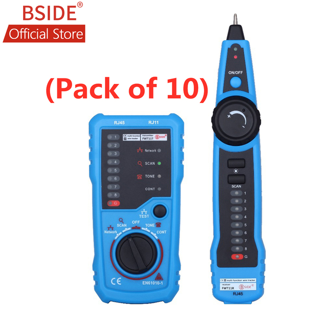 BSIDE FWT11 Netzwerk Kabel Tester RJ11 RJ45 Telefon Draht Tracker Tracer Toner Ethernet LAN Linie Finder (Pack von 10)