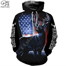 цена на Deer Hunting legend 3d all over Printed Unisex hoodies Harajuku Fashion Casual Hooded Sweatshirt zip hoodies