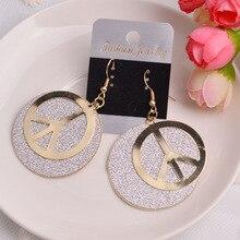 popular peace  fashion frosted womens earrings retro korean drop bohemian indian dangle