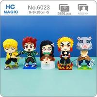 Gejia Anime Demon Slayer Tanjirou Nezuko Inosuke świnia zwierząt potwór wojownik DIY Mini diamentowe klocki klocki zabawki do budowania bez pudełka