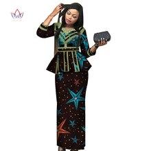 Новая африканская Дашики юбка набор африканская традиционная одежда для женщин Базен Riche размера плюс юбка набор Печать Дамская одежда WY3887