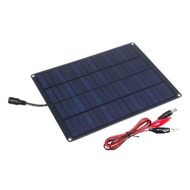 Panel Solar de 20W 12V 18V con Clip de batería + 10/20/30/50A, controlador Solar de cargador de coche, células solares para Camping al aire libre senderismo